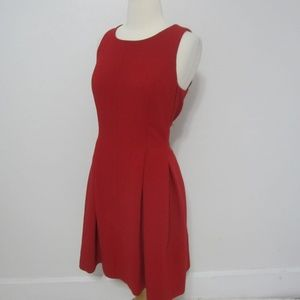 LOFT Red Sleeveless Fit & Flare Cocktail Dress 12P